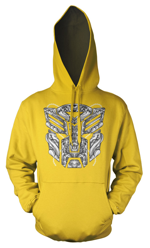 Transformers Patterned Mask tattoo style Kids Hoodie