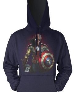 Stan Lee Memorial Superhero Mashup Figure Kids Hoodie